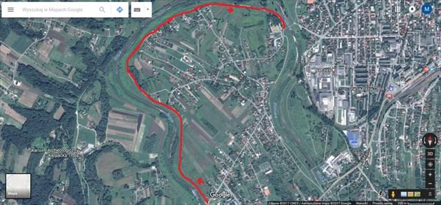 Trasa pierwszego CITO w Jaśle